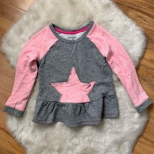 Cat & Jack Star fleece lightweight sweatshirt 4T